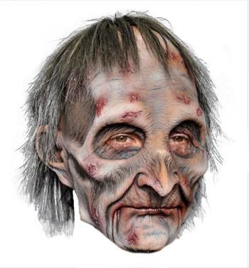 Zombie Grandpa Mask Premium