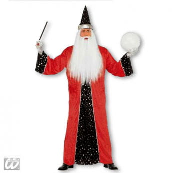 Zauberer Kostüm Rot L