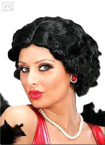 30er Jahre Perücke Betty schwarz