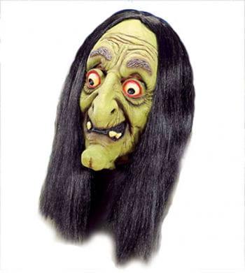 Alte Hexen Maske grün