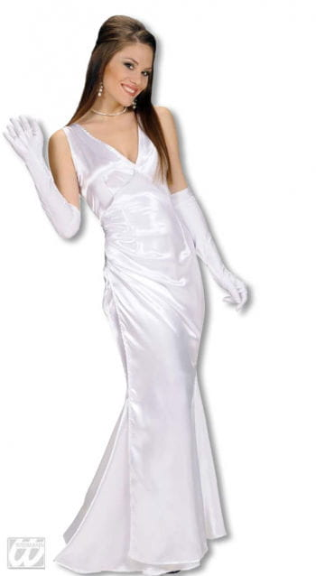 Evening Dress White L