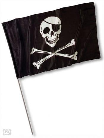 Piratenfahne mit Totenkopf groß