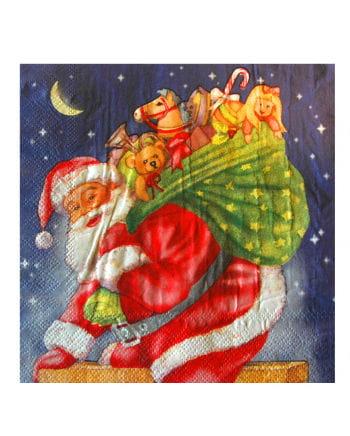 Servietten mit Weihnachtsmann-Motiv