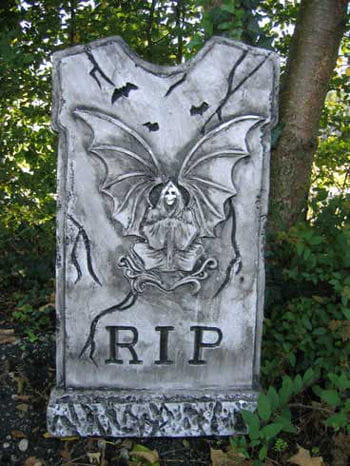 Grave stone demon