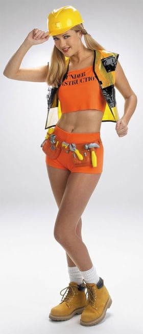 Sexy Builder Girl Costume