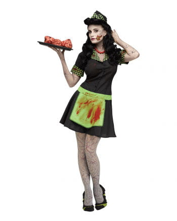 50er Jahre Zombie Kellnerin Kostüm
