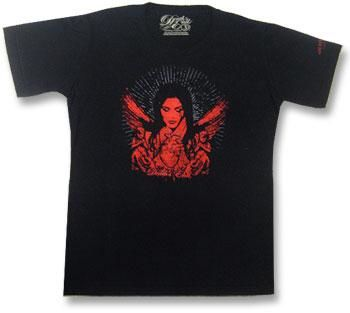 Red Angel and Heart T Shirt S