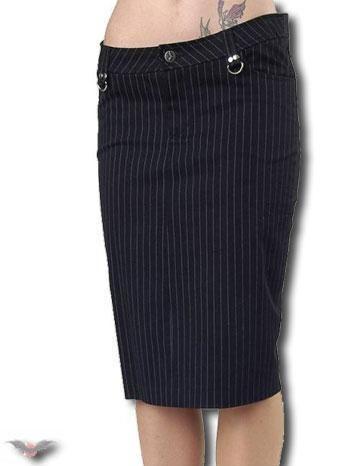 knee-length pinstripe skirt Gr.34