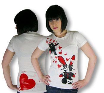 Girlie Shirt Luv Voodoo weiß L