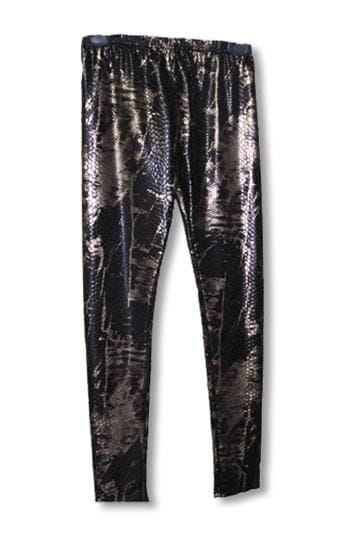 Snake Skin Leggings Gold S