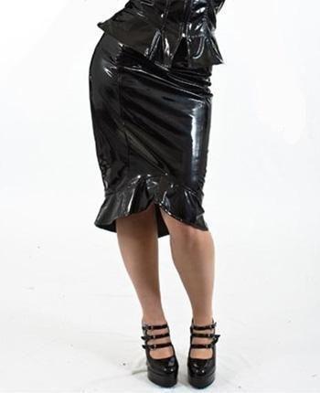 PVC Pencil Skirt Size XL
