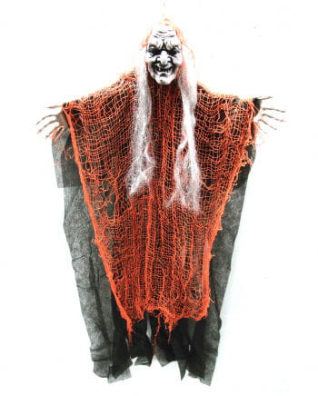 Old witch in the scarf look orange 67cm