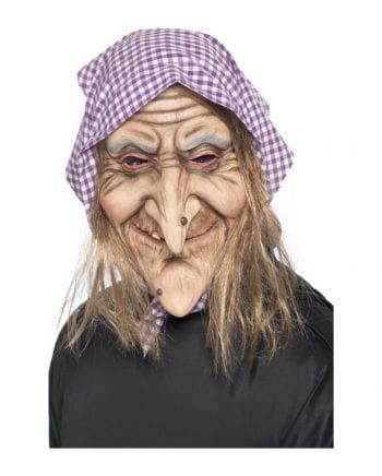 Alte Hexen Maske mit Kopftuch