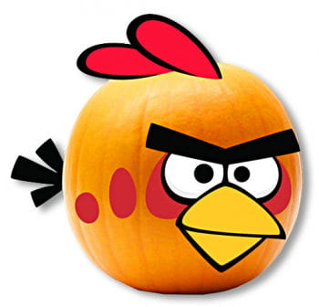 Angry Birds Kürbis-Dekoration