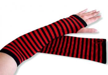 Armstulpen rot-schwarz gestreift