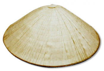Asian Hat Made of Palm Leaves