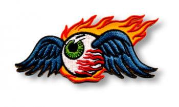 Aufnäher Flaming Eyeball Klein