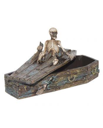 Ausbrechendes Skelett in Sarg-Box
