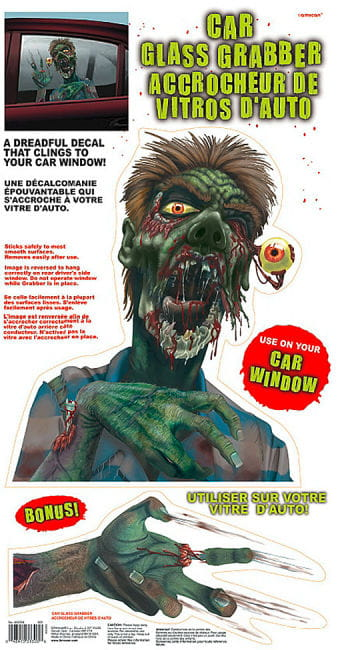 Car Glass Grabber Decal Zombie