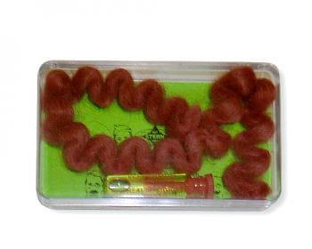 Crepe Wool Hair Red