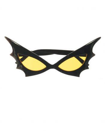 Bat Woman sunglasses yellow glass
