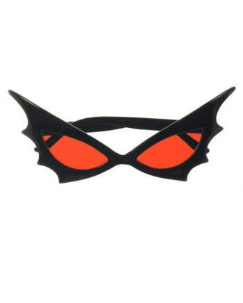 Bat Woman Sunglasses Red Glass