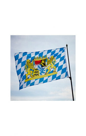 Bayern Fahne mit Wappen