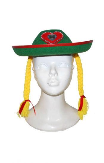 Bavarian hat with braids