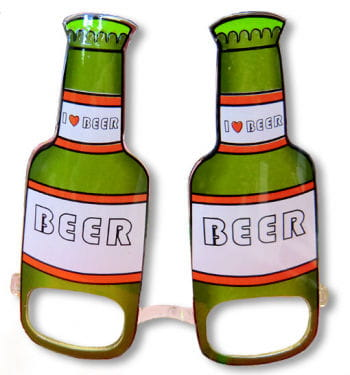 Beer Bottle Fun Glasses