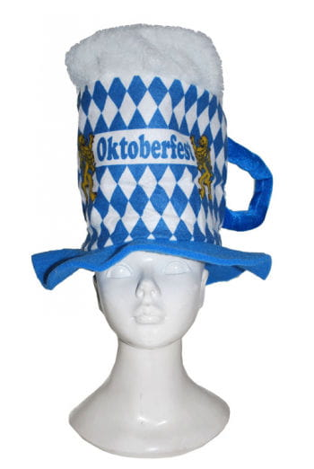 Beer mug hat with diamond pattern