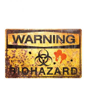 Biohazard Metall-Schild