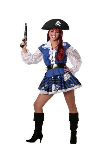 Blue Pirate Lady Costume Plus Size
