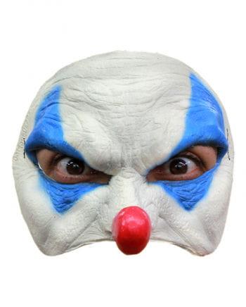 Blue Clown Half Mask