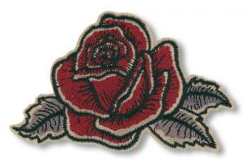 Blumen Aufnäher Antik Rose links