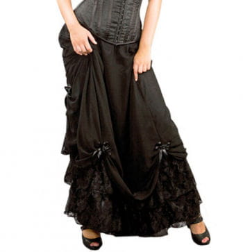 Floor length skirt with gathering