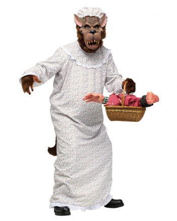 Böser Wolf im Oma Kostüm