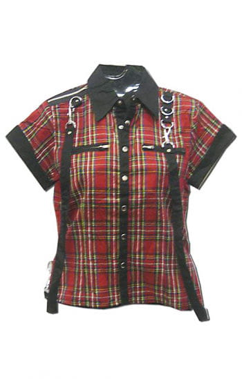 Bondage Plaid Shirt XL