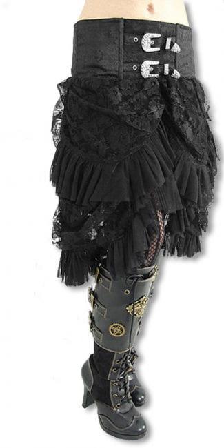 Brocade tulle skirt with Strassappliaktionen