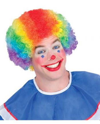 Regenbogen Clowns Perücke