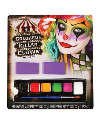 Colorful Killer Clown Make-Up Set