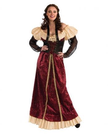 Burgfräulein Kostüm rot Plus Size