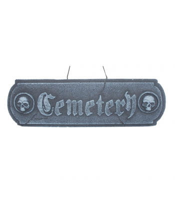 Cemetery Deko Schild