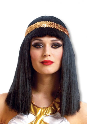 Cleopatra Wig with Sequin Headband