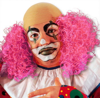 Clown Wig with Pink Hair