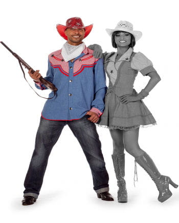 Cowboy Herrenhemd Jean Blue Plus Size