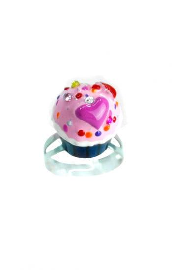 Cupcake Ring Blue Pink