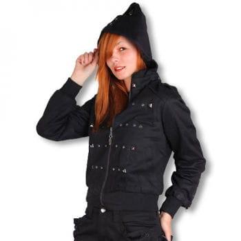 Ladies biker jacket with studs XL / 42
