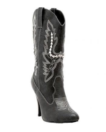 Damen Cowboy Stiefel schwarz