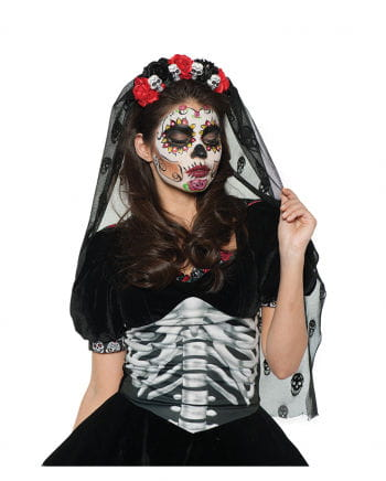 Day of the Dead Totenkopf Haarreifen
