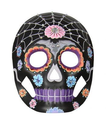 Day of the Dead Maske Floral mit Strasssteinen